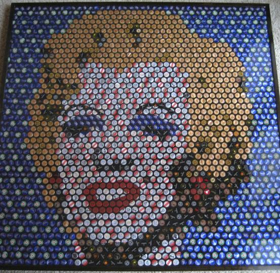 Marilyn for How to make beer bottle cap art